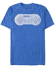 Men's Classic Super Nintendo Controller Short Sleeve T-Shirt