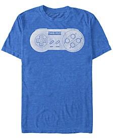 Nintendo Men's Classic Super Nintendo Controller Short Sleeve T-Shirt