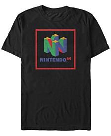 Nintendo Men's 64 Cube Classic Logo Short Sleeve T-Shirt