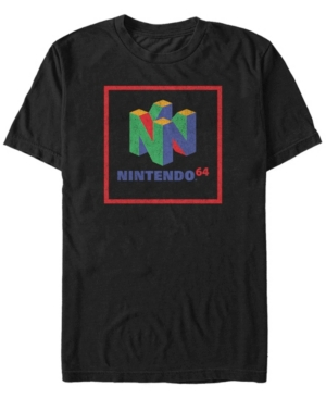Nintendo Men's 64 Cube Classic Logo Short Sleeve T-Shirt