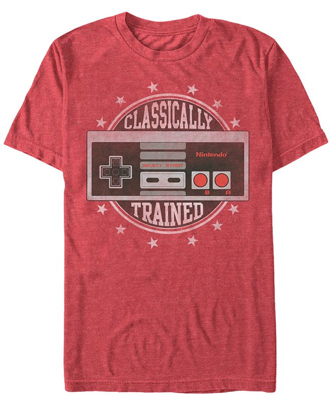 Nintendo Men's NES Controller Classically Trained Short Sleeve T-Shirt
