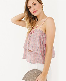 Plum Pretty Sugar Isla Flounce Top