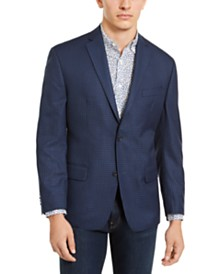 Michael Kors Men's Classic-Fit Blue Check Sport Coat