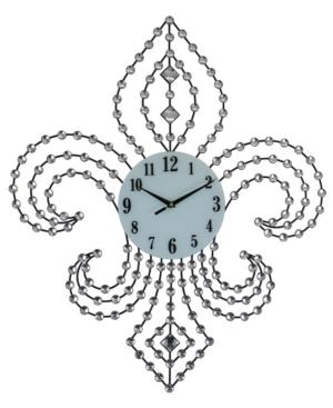 Three Star Fleur De Lis Wall Clock