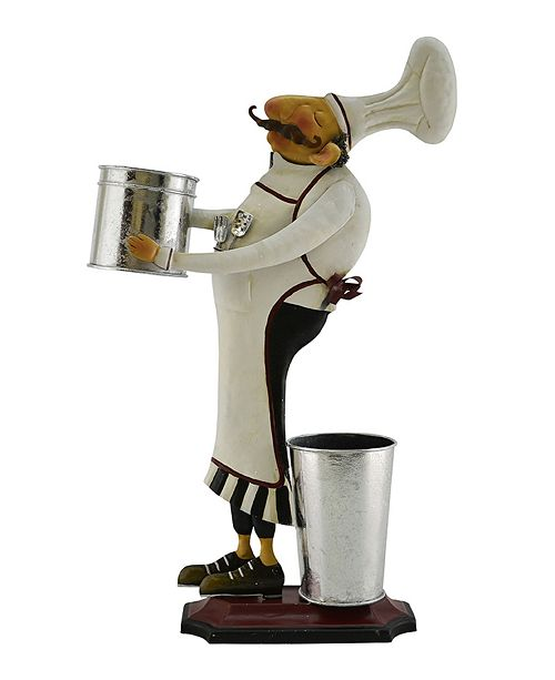 Three Star Chef with Bucket In Hand Bottle Holder