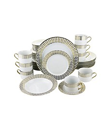 Hearts 40 Piece Dinnerware Set