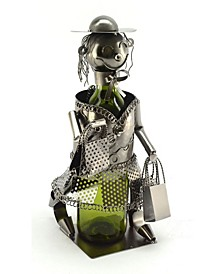 Shopping Lady Wine Bottle Holder
