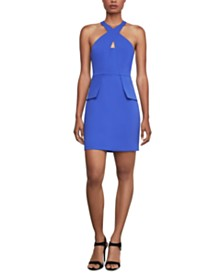 BCBGMAXAZRIA Cutout Peplum Sheath Dress