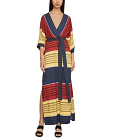 BCBGMAXAZRIA Faux-Wrap Maxi Dress