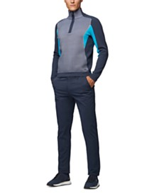 BOSS Men's Zarro Knitted Colour-Block Sweater
