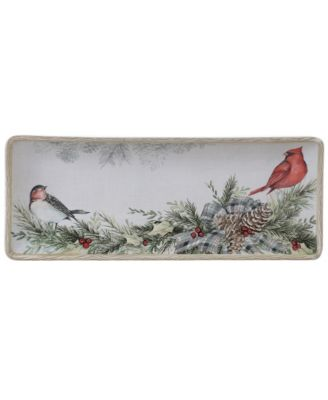 Holly and Ivy Rectangular Platter
