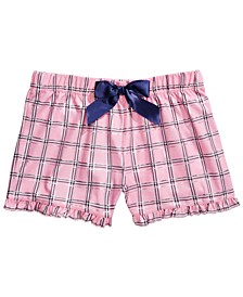 Little & Big Girls Plaid Pajama Shorts, Created For Macy's