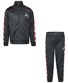 Little Boys 2-Pc. Tricot Jacket & Jogger Pants Set