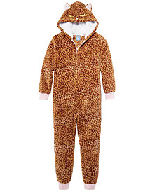Max & Olivia Little & Big Girls Leopard-Print Pajamas