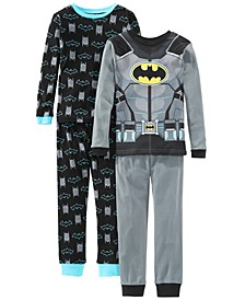 Little & Big Boys 4-Pc. Cotton Batman Pajamas Set