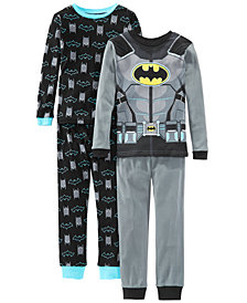 AME Little & Big Boys 4-Pc. Cotton Batman Pajamas Set