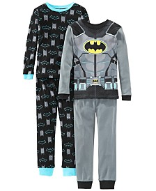 AME Little & Big Boys 4-Pc. Cotton Batman Pajamas Set