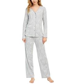 Women's Printed Pajama Set, Created For Macy's