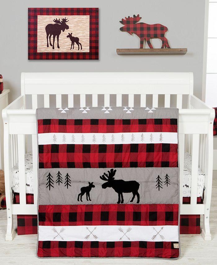 Trend Lab - Lumberjack Moose 3 Piece Crib Bedding Set