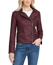 Asymmetrical-Zip Moto Jacket