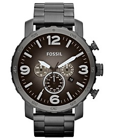 Men's Chronograph Nate Smoke Tone Stainless Steel Bracelet Watch 50mm JR1437