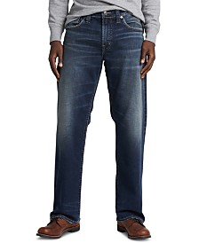 Silver Jeans Co. Men's Gordie Loose-Straight Fit Stretch Jeans