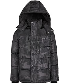 Little Boys Faux-Fur-Trim Puffer Jacket