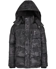DKNY Big Boys Faux-Fur-Trim Puffer Jacket