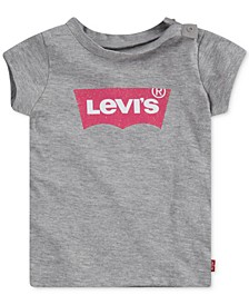 Baby Girls Cotton Logo-Print T-Shirt