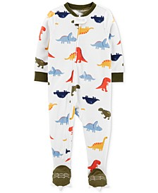 Baby Boys 1-Pc. Footed Fleece Dinosaur Pajama