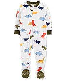 Carter's Baby Boys 1-Pc. Footed Fleece Dinosaur Pajama
