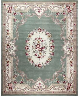 CLOSEOUT!  Palace Garden Aubusson Sage 8' x 10' Area Rug