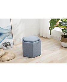 Trinity Collection Hexagonal Storage Ottoman