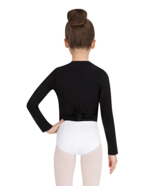 Capezio Big Girls Wrap Top Long Sleeve Wrap Top with Self tie