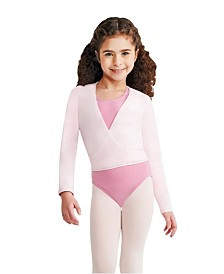 Capezio Little Girls Wrap Top Long Sleeve Wrap Top with Self tie