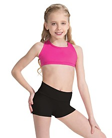 Capezio Little Girls Fold Over Boy short