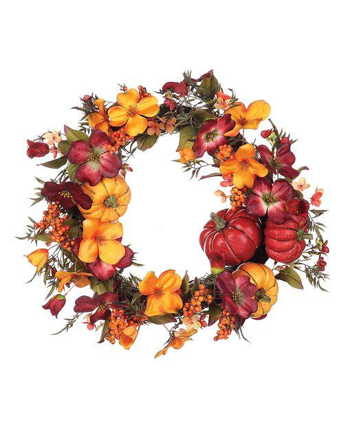 Napco Harvest Floral Wreath