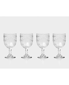 Euro Ceramica Fez Wine Glasses, Set of 4
