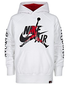 Jordan Big Boys Nike Air Jumpman-Print Hoodie