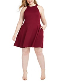Speechless Trendy Plus Size Bow-Back A-Line Dress