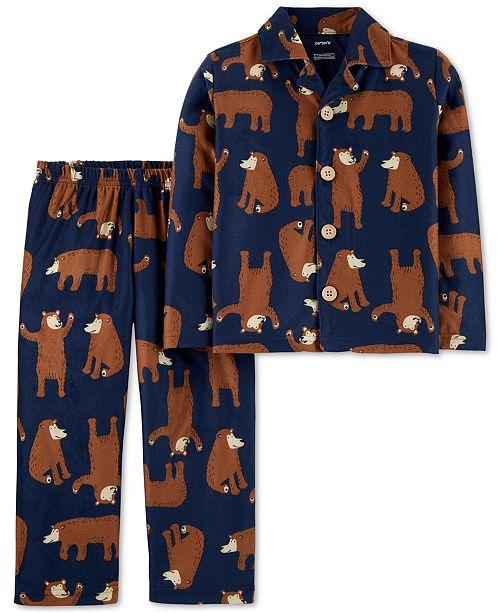 Carter's Toddler Boys 2-Pc. Bear-Print Fleece Pajama Set