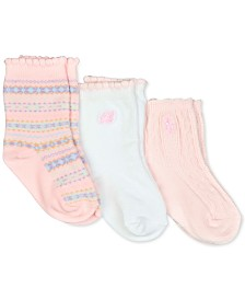 Polo Ralph Lauren Baby Girls 3-Pk. Fair Isle Crew Socks