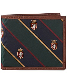 Men's Repp Tie Bi-Fold Wallet