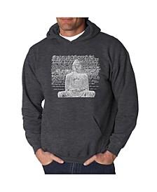 Men's Word Art Hooded Sweatshirt - Zen Buddha