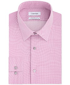 Calvin Klein Men's Light Slim-Fit Performance Stretch Sine Wave Dress Shirt