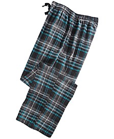 Men's Large-Plaid Flannel Pajama Pants
