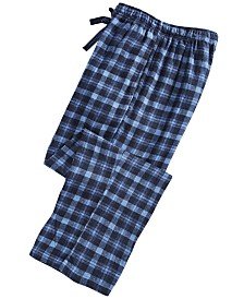 Perry Ellis Men's Small-Plaid Flannel Pajama Pants