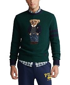 Polo Ralph Lauren Men's Wool Blend Polo Bear Sweater