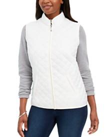 Karen Scott Quilted Puffer Vest, Created For Macy's