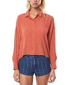 Juniors' Braxton High-Low Shirt